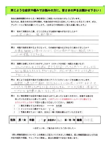 Y.Aさん 男性 29歳 お住まい:福生市 会社員