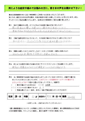 I.Yさん 男性 62歳 お住まい:羽村市 会社役員